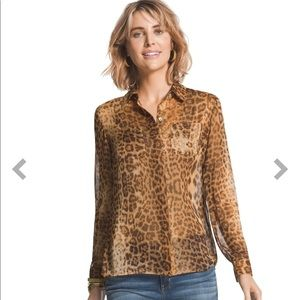 Chico's Leopard Dreams Liana Shirt-NWT